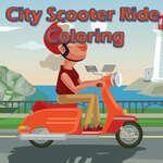 Градски скутер пътуване оцветяване игра