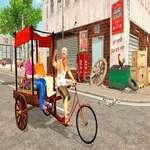 City Public Cycle Rickshaw Fahrsimulator Spiel