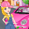 Clean my pink new beetle game