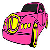 Classic pink car coloring game