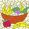 Класически плодове кошница оцветяване игра