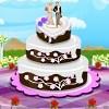 Класическа сватбена торта декорация игра