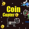 Moneda gato helicóptero juego