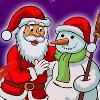 Le père Noël de couleur jeu