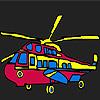 Elicopter militar colorat de colorat joc
