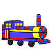Colorful long wagon coloring game