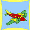 Coastal airplane coloring game