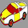 Colorful race car coloring game