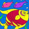 Coloridos peces para colorear juego