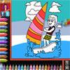 Libro para colorear - playa juego