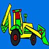 Para colorear de tractor de colorido pueblo juego