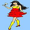 игра Коктейль девушка окраски
