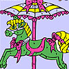 Colorful carousel coloring game