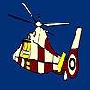 Kleurrijke vliegende helikopter kleuren spel