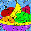 Colorful fruits coloring game