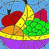 Coloridas frutas para colorear juego