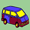 Concept mini bus coloring game