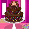Színes csokoládé torta játék