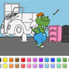 Color Spiele - Auto Garage Dinosaurier