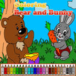 Coloring Bear and Bunny game