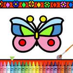 Farba a ozdobte motýle hra