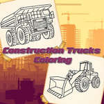 Coloriage de camions de construction jeu