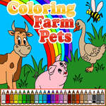 Coloring Farm Pets game