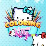 Coloring Kitty game