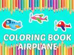 Книжка за оцветяване Самолет деца образование игра