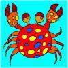 Krabben-Färbung Spiel