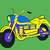 Cross road motorcycle coloring game