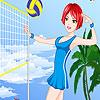 Volley-ball de jolies filles habiller jeu