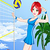 Сладък момичета волейбол обличане игра