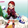 Cute Girl Newyear calendario gioco