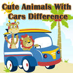 Cute Animals With Cars Difference game