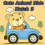 Cute Animal Ride Match 3 jeu