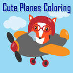 Cute Planes Coloring game