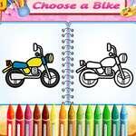 Livre mignon de coloriage de vélo jeu