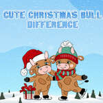 Cute Christmas Bull Difference game