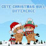 Roztomilý vianočný býk rozdiel hra