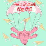 Cute Animals Sky Fall game