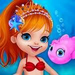 Сладък русалка обличане игра
