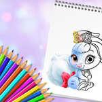 Animales lindos libro para colorear juego