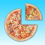 Cortar pizza cortada juego