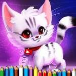 Сладък коте оцветяване игра