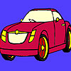 Dark red car coloring game