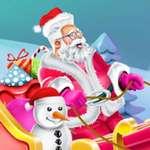 Дизайн Санта-Клауса Сани игры