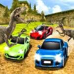 Dino Car Race game