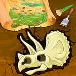 Excavación de huesos de dinosaurios juego