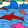Dolphins in the pool coloring game